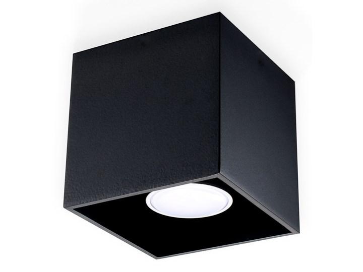 Sollux Lampa Plafon QUAD 1 czarny SL.0022 Oprawa Sufitowa Idealna do Salonu Korytarza Lampa Minimali ...