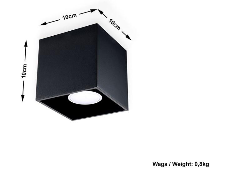 Sollux Lampa Plafon QUAD 1 czarny SL.0022 Oprawa Sufitowa Idealna do Salonu Korytarza Lampa Minimalistyczne Oświetlenie Gu10 LED Oprawa halogenowa Oprawa led Kwadratowe Oprawa stropowa Kategoria Oprawy oświetleniowe
