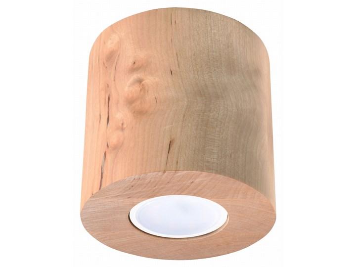 Sollux Lampa PLAFON ORBIS 1 NATURALNE DREWNO Oprawa Sufitowa Minimalistyczna LED Kategoria Oprawy oświetleniowe Oprawa halogenowa Okrągłe Oprawa led Oprawa stropowa Kolor Beżowy