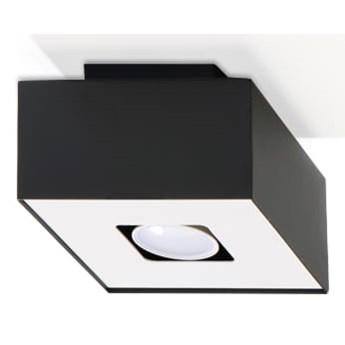 Sollux Lampa Plafon MONO 1 czarny SL.0070 Oprawa Sufitowa Stal Minimalistyczne Oświetlenie Loft