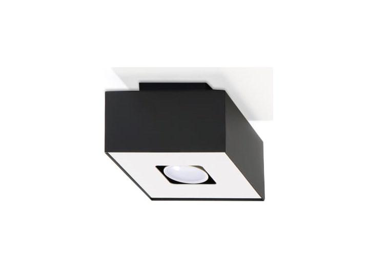 Sollux Lampa Plafon MONO 1 czarny SL.0070 Oprawa Sufitowa Stal Minimalistyczne Oświetlenie Loft Oprawa stropowa Oprawa halogenowa Kwadratowe Kategoria Oprawy oświetleniowe