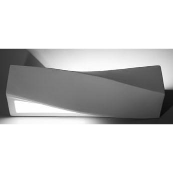 Sollux Lampa Kinkiet Ceramiczny SIGMA SL.0003 Oprawa Ścienna Biała LED E27 Oświetlenie Minimalistyczne