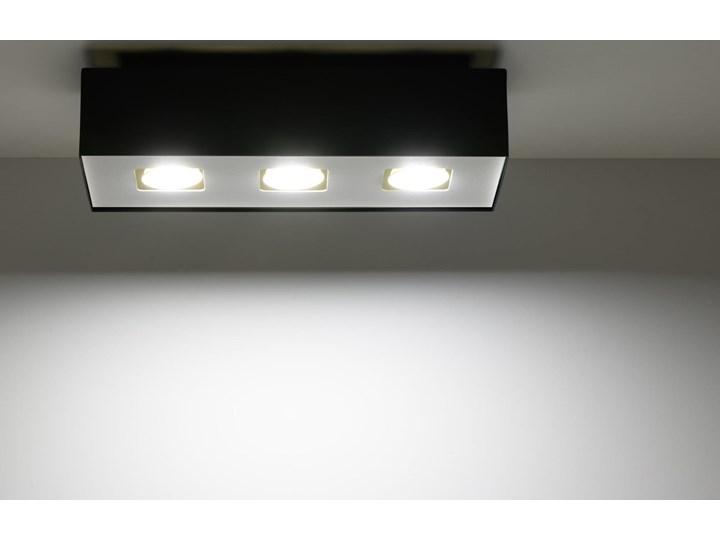Sollux Lampa Plafon MONO 3 czarny SL.0072 Oprawa Sufitowa Stal Minimalistyczne Oświetlenie Loft Oprawa stropowa Oprawa halogenowa Prostokątne Kategoria Oprawy oświetleniowe