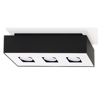 Sollux Lampa Plafon MONO 3 czarny SL.0072 Oprawa Sufitowa Stal Minimalistyczne Oświetlenie Loft