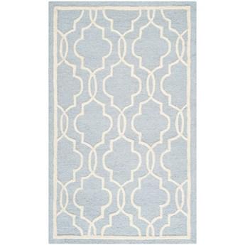 Jasnoniebieski dywan wełniany Safavieh Elle Sky, 91x152 cm