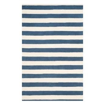 Niebieski dywan wełniany Safavieh Ada, 243x152 cm