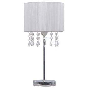 Biała lampka stołowa w stylu glamour - EX817-Alesa