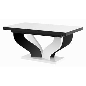 Rozkładany stół biało - czarny połysk - Tutto