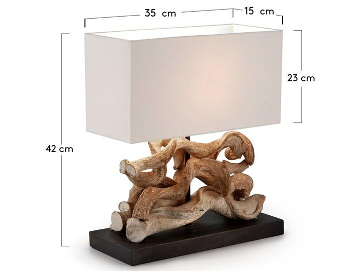 Lampa stołowa Temoc 35x42 cm biało-drewniana Kategoria Lampy stołowe Kolor Biały