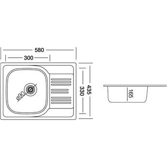 Zlewozmywak Kernau KSS C 455 1B1D Smooth