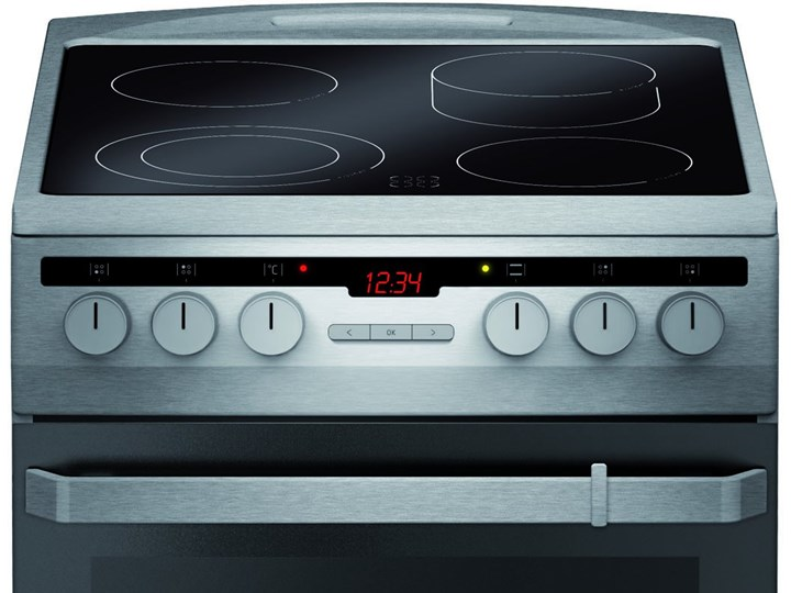 Kuchnia elektryczna Amica 58CE3.413HTaKDpQ(Xx) Szerokość 50 cm Rodzaj płyty grzewczej Ceramiczna