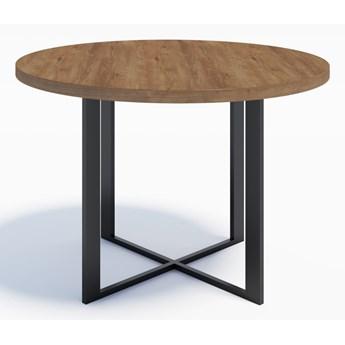 Nowoczesny stół okrągły RING 6 110 Dąb Lefkas ciemny