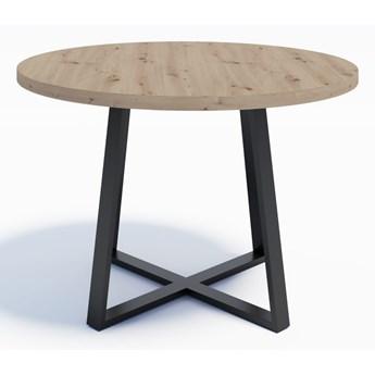 Industrialny stół okrągły RING X 110 Dąb Artisan