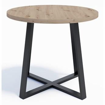 Industrialny stół okrągły RING X 90 Dąb Artisan