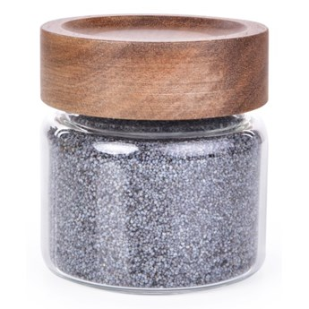 Szklany pojemnik z akacjową pokrywką ACACIA & BOROSIL GLASS GoEco® pojemność 230 ml
