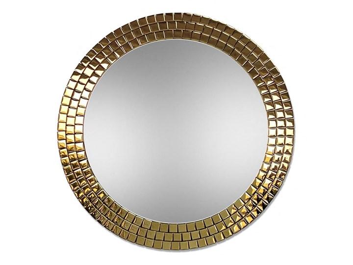 Lustro Aurora Gold Okrągłe Lustro z ramą Ścienne Pomieszczenie Sypialnia