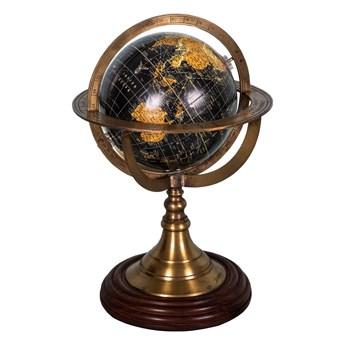Globus dekoracyjny z podstawą drewna palisandrowego Antic Line Globe, ø 17 cm
