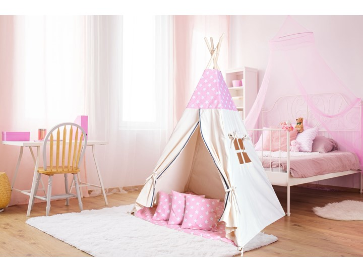 Namiot Tipi dla dzieci różowy w gwiazdki Wiek dziecka dla malucha (2-5lat)