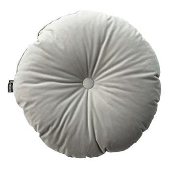 Poduszka okrągła Velvet z guzikiem, gołębi szary, ⌀37 cm, Velvet