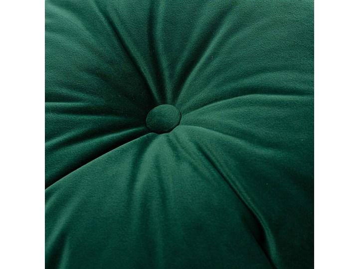 Poduszka okrągła Velvet z guzikiem, butelkowa zieleń, ⌀40 cm, Velvet Poduszka dekoracyjna Poliester Okrągłe Aksamit Pomieszczenie Sypialnia