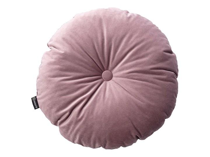 Poduszka okrągła Velvet z guzikiem, zgaszony róż, ⌀40 cm, Velvet Aksamit Poliester Okrągłe Poduszka dekoracyjna Kategoria Poduszki i poszewki dekoracyjne