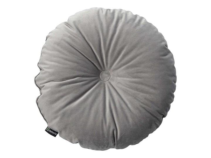 Poduszka okrągła Velvet z guzikiem, srebrzysty szary, ⌀37 cm, Velvet