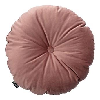 Poduszka okrągła Velvet z guzikiem, koralowy róż, ⌀37 cm, Velvet