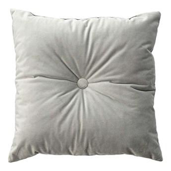 Poduszka kwadratowa Velvet z guzikiem, gołębi szary, 37 x 37cm, Velvet
