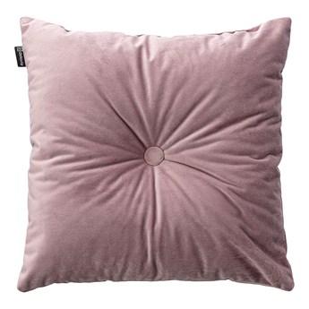 Poduszka kwadratowa Velvet z guzikiem, zgaszony róż, 37 x 37cm, Velvet