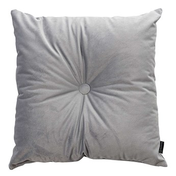 Poduszka kwadratowa Velvet z guzikiem, srebrzysty szary, 37 x 37cm, Velvet