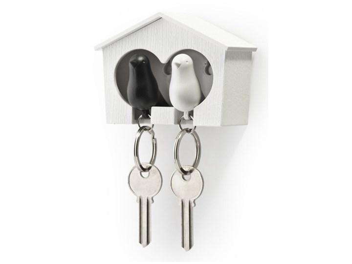 Wieszak na klucze Budka podwójna biało-czarna 10124-WH-WH-BK kod: QL10124WH-WH-BK