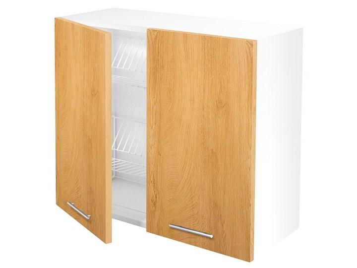 Kuchenna szafka górna z ociekaczem dąb miodowy - Limo 28X Drewno Kolor Beżowy