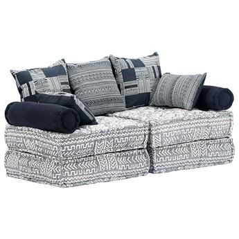 Dwuosobowa szara sofa modułowa - Demri 2D