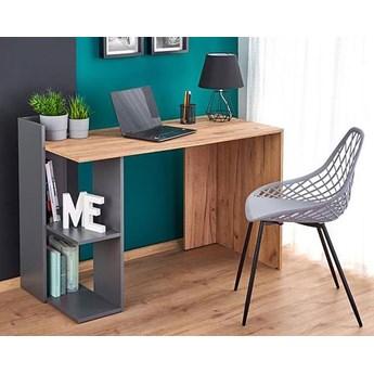 Skandynawskie biurko komputerowe Multo - dąb wotan + antracyt