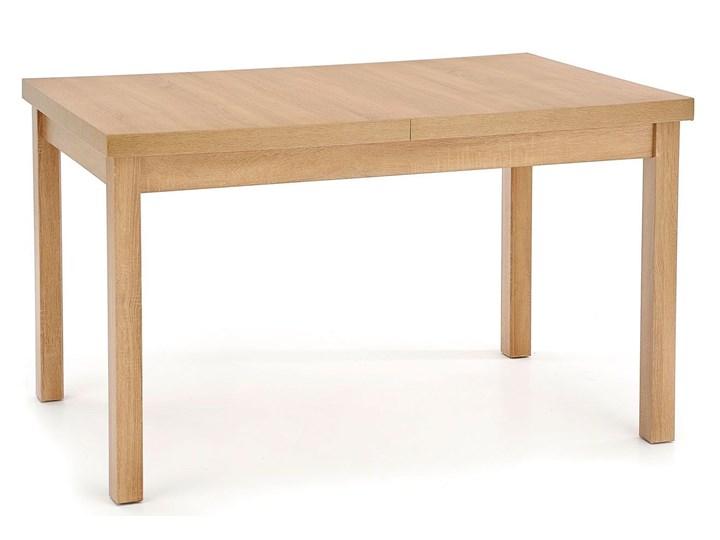 Rozkładany stół nowoczesny Selen 2X - dąb riviera Szerokość 80 cm Długość 80 cm  Drewno Wysokość 76 cm Długość 220 cm Kolor Beżowy