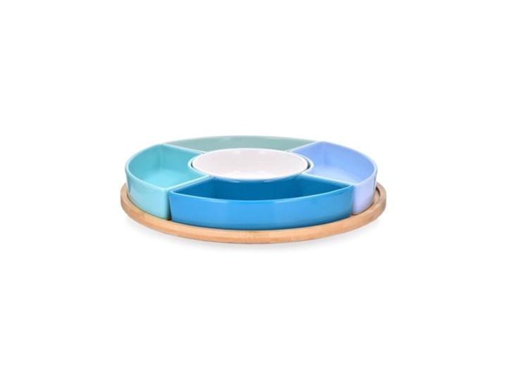 Zestaw do przystawek na obrotowej tacy DUKA WAREWOOD SCANDI porcelana Kategoria Tace i patery Patera Okrągłe Kolor