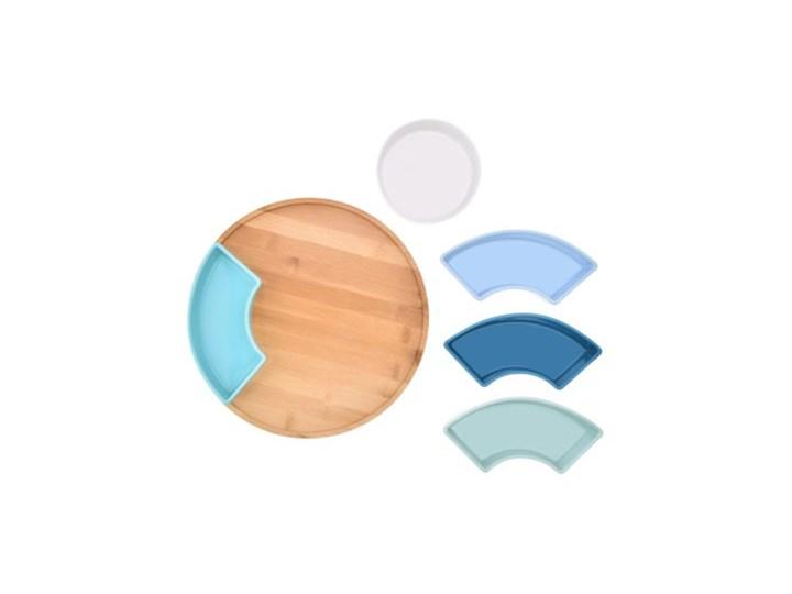 Zestaw do przystawek na obrotowej tacy DUKA WAREWOOD SCANDI porcelana Okrągłe Patera Kategoria Tace i patery