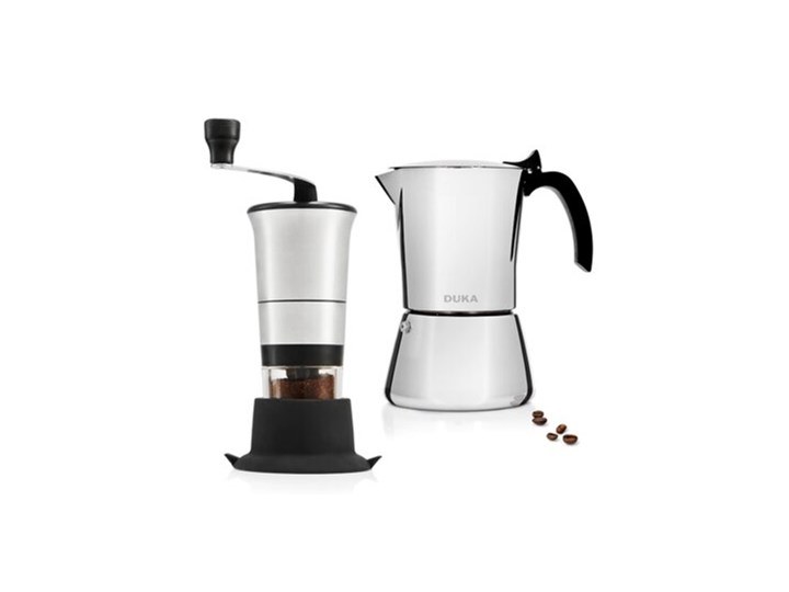 Zestaw 61 - Zestaw kawiarka ciśnieniowa i młynek DUKA TRYCK PRO GRIND stal nierdzewna Kategoria Kawiarki i kafetery