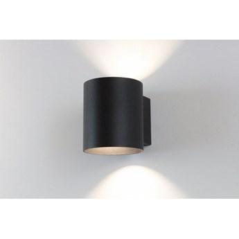 LM K 110 BK KINKIET LAMPA ŚCIENNA TUBA ŚWIATŁO GÓRA DÓŁ ALUMINIUM CZARNY G9 LED