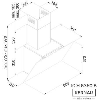 Okap Kernau KCH 5360 B