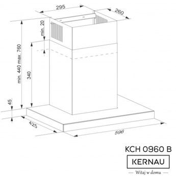 Okap przyścienny Kernau KCH 0960 B