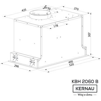 Okap Kernau KBH 2060 B Glass