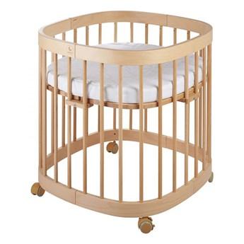 Bukowe wielofunkcyjne łóżeczko dziecięce - Nando 3X