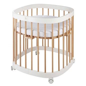 Biało-bukowe wielofunkcyjne łóżeczko dziecięce - Nando 4X