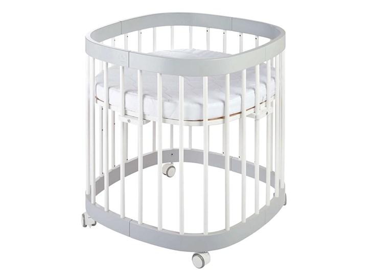 Szaro-białe wielofunkcyjne łóżeczko dziecięce - Nando 5X