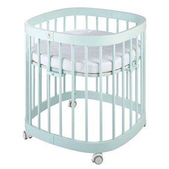 Miętowe wielofunkcyjne łóżeczko dziecięce - Nando 6X