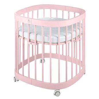 Różowe wielofunkcyjne łóżeczko dziecięce - Nando 7X