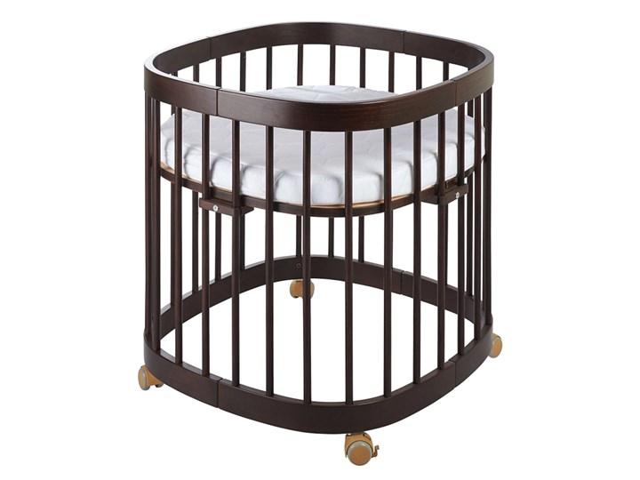 Wielofunkcyjne łóżeczko dziecięce w kolorze wenge - Nando 8X Kategoria Drewno Kolor Brązowy