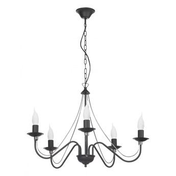Szykowny żyrandol świecznik E231-Monix - czarny