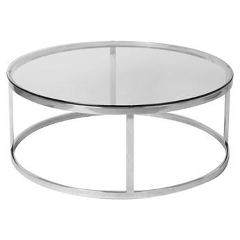 Nowoczesny minimalistyczny okrągły szklany stolik 100x40 cm C066